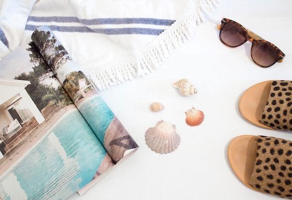 Travel necessities and beach need